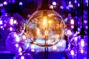 Decoration retro light bulb