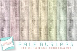 burlap digital paper, nursery colors