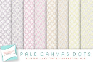 Digital Paper, pale canvas dots