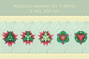Abstract element for T-shirts