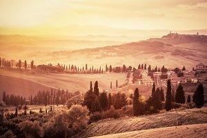 Wonderful Tuscany landscape.