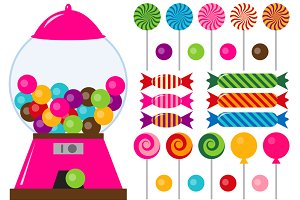Digital Candies Clip Art