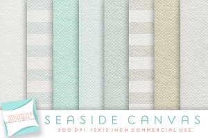 Canvas Digital Paper, Seaside Canvas