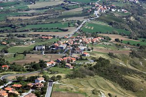 San Marino landscape near San Marino castle.