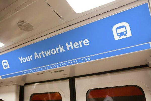 Subway Advertising Mockup
