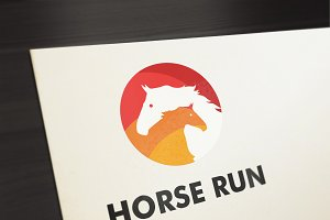 Horse Run Logo Template