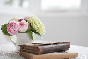 Pink Spring Blooms & Books