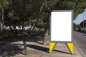 Blank billboard for branding