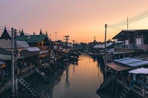 Floating market, Amphawa Thailand
