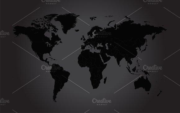 World map black icons creative market world map black icons gumiabroncs Images