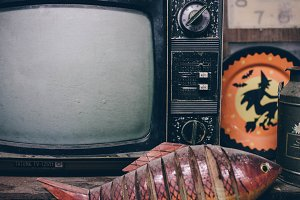 Halloween Tv Set