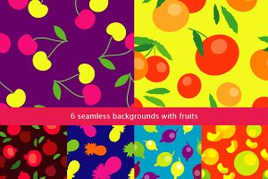 Set of 6 seamless backgrounds