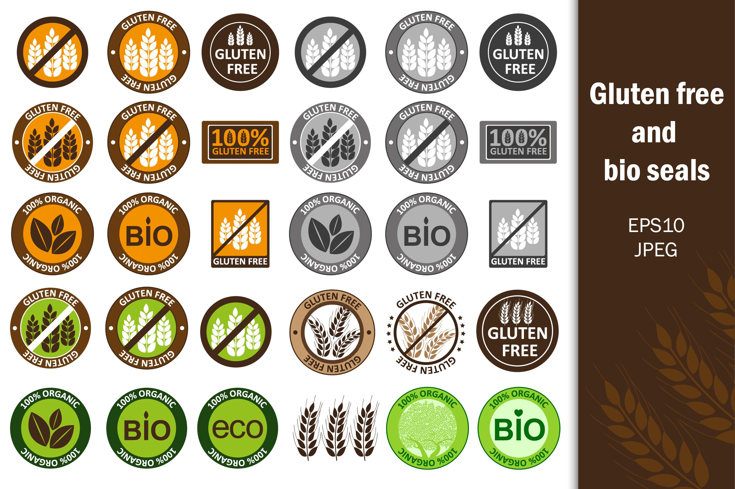 Сollection gluten free bio seals