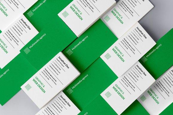Web design agency business card #34
