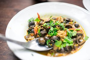 Spicy Mushroom & Pork Salad