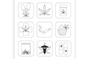 Medical marijuana set