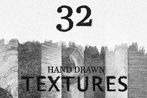 Hand drawn grunge textures