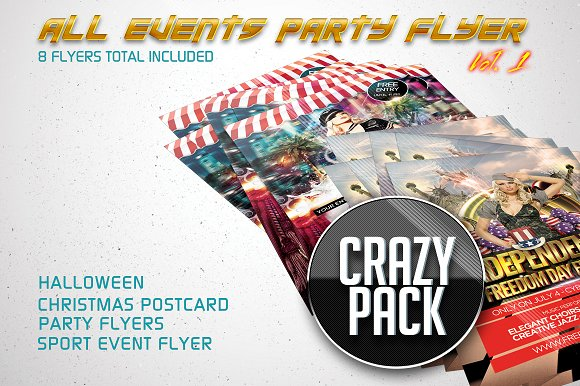 All Events Flyer Pack Vol.1 (8 in 1) - Flyers