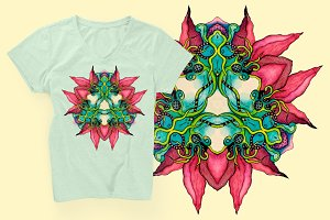 Abstract element for T-shirt