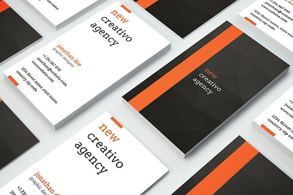 Creative Agency Business Card 35 Templates Market