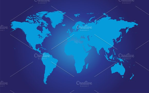 World map flat blue icons creative market world map flat blue icons gumiabroncs Gallery