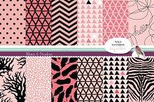 Wild Pink Geometric Digital Patterns