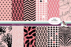 Wild Pink Geometric Digital Patterns