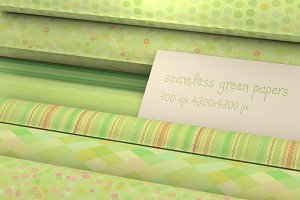 12 seamless green summer patterns
