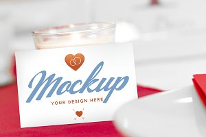 MOCKUP Your Wedding Business Cards