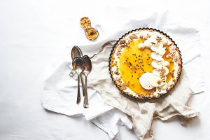 Coconut and Passion Fruit Tart