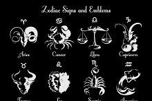 Zodiac symbols and signs
