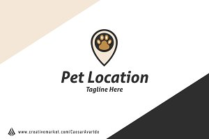 Pet Location Logo Template
