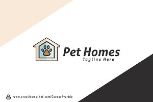 Pet Home Logo Template