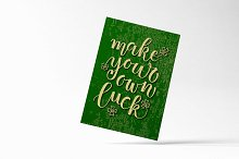Make Your Own Luck Typography Poster