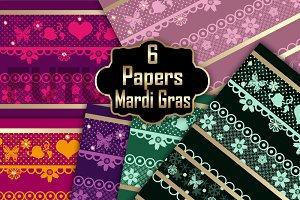 Mardi Gras digital paper