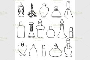 isolated perfume bottles