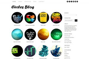 Circles Blog Responsive Theme