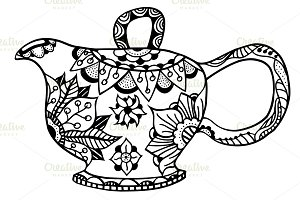 Teapot isolated vector