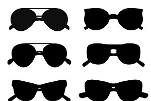 Fashion vector glasses silhouette