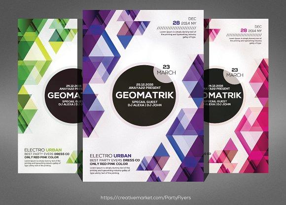 Minimal Geometric Flyer Psd Template Flyer Templates on Creative – Geometric Flyer Template