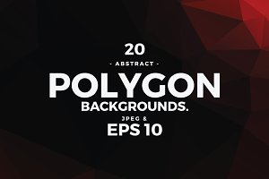 20 Polygon Vector Backgrounds