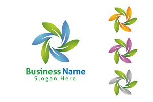 Green leaf ecology logo template