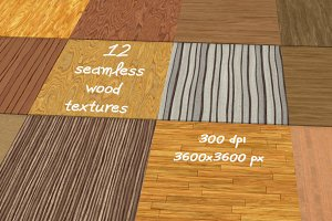 12 seamless wood textures