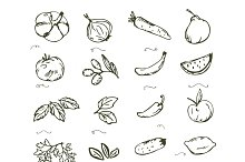 Vegetables and Fruits clip art