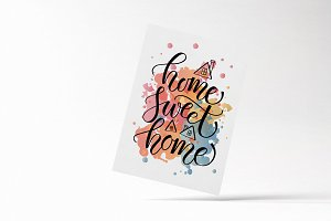 Home Sweet Home Lettering Card