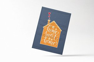 Home Sweet Home Typography Card