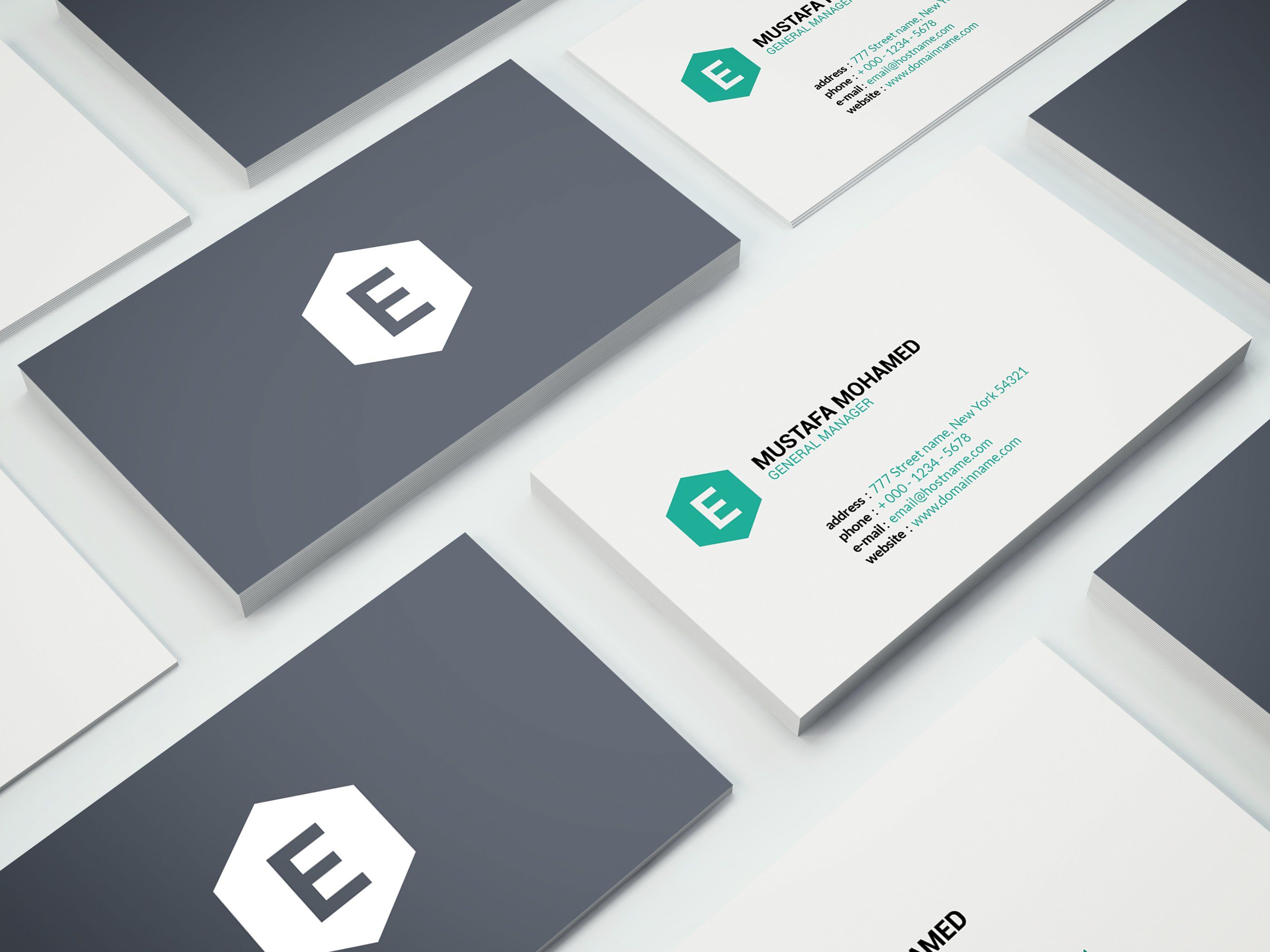 Clean Business Card 05 ~ Business Card Templates ~ Creative Market