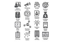 Business management icons. Pack 12.