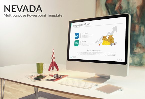Nevada powerpoint template presentation templates creative market nevada powerpoint template presentations toneelgroepblik Choice Image