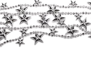 background with silver stars